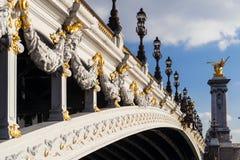Alexander III bridge in Paris Stock Photos
