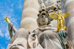 Alexander III Bridge, Paris, architectural detail Stock Photos