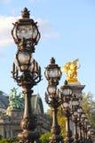 Alexander III bridge in Paris Royalty Free Stock Images