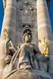 Alexander III bridge in Paris Stock Images