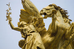Alexander III bridge at Paris, France Royalty Free Stock Images