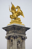 Alexander III bridge at Paris, France Stock Images