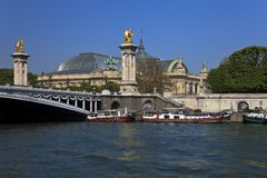 The Alexander III Bridge in Paris, France. Royalty Free Stock Photos