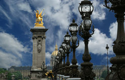 The Alexander III bridge - Paris, France Stock Image