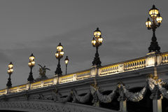 Alexander III bridge, Paris Stock Images