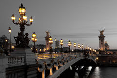 Alexander III bridge, Paris Royalty Free Stock Image