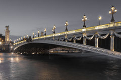 Alexander III bridge Stock Photography
