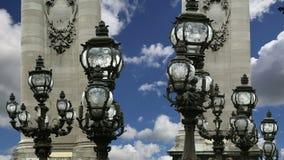 The Alexander III bridge - Paris, France stock footage
