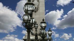 The Alexander III bridge - Paris, France stock video