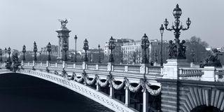 Alexander III Bridge in Paris. France. Royalty Free Stock Image