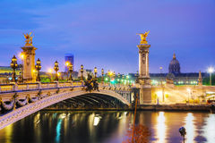 Alexander III bridge in Paris Royalty Free Stock Photography