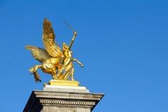 Alexander III bridge sculpture in Paris Royalty Free Stock Image