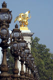 Alexander III brug in Parijs Stock Foto