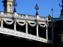 Alexander III brug in Parijs stock fotografie