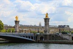 Alexander III Brug in Parijs, Frankrijk. Stock Foto's