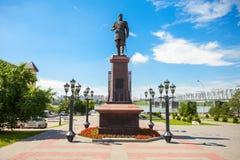 Alexander III monument, Novosibirsk arkivfoto