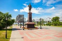 Alexander III.-Monument, Nowosibirsk Stockfotos