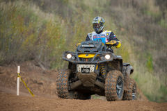 Alexander Kuzmin 19 (Quad Boom). MOSCOW-OCTOBER 10: Alexander Kuzmin 19 (Quad Boom), class 4x4, in the 5 stage of the XSR-MOTO.RU Cross Country in Moscow, Park Stock Image