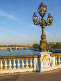 Alexander 3 lamppost Stock Images