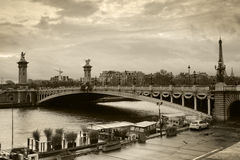 Alexander lll bridge in Paris Royalty Free Stock Photography