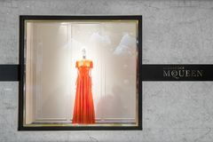 Alexander Mcqueen fashion boutique display window. Hong Kong royalty free stock images