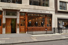 Alexander Mcqueen store Savile Row Royalty Free Stock Photos