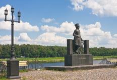 alexander monument pushkin russia till Royaltyfri Bild