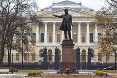 alexander monument pushkin till Royaltyfri Bild