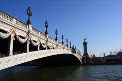 alexander most nad Paris rzeki wontonem Zdjęcia Stock