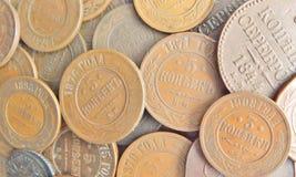 2 1813 alexander myntkoppar mig gammal ryss för kopeck Royaltyfria Bilder