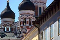 Alexander Nevksy orthodox cathedral in Tallinn, Estonia royalty free stock photography
