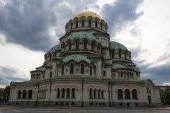 Alexander Nevski Cathedral Bulgarien Arkivfoto