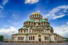 Alexander Nevski Cathedral in Sofia, Bulgarije Stock Foto