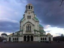 Alexander nevski kathedraal Sofia Bulgarije Royaltyfri Foto