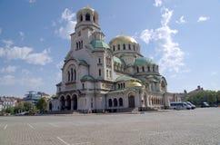 Alexander Nevski Memorial Church Sofia, Bulgarije, Europa Royalty-vrije Stock Foto's