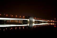 Alexander Nevsky bridge is raised in close proximity. Saint-Petersburgn Stock Photography