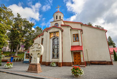 Alexander Nevsky Cathedral dans Kamianets-Podilskyi, Ukraine Photo stock