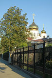 Alexander Nevsky Cathedral, de belangrijkste Orthodoxe kerk in Krasnodar, die in 1932 werd vernietigd en in 2006 werd herbouwd Stock Afbeeldingen