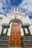 Alexander Nevsky Cathedral en Kamianets-Podilskyi, Ucrania Imagen de archivo libre de regalías