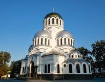 Alexander Nevsky Cathedral en Kamianets-Podilskyi, Ucrania Imagen de archivo