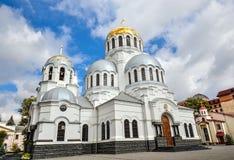 Alexander Nevsky Cathedral en Kamianets-Podilskyi, Ucrania Fotos de archivo