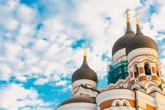 Alexander Nevsky Cathedral en ortodox domkyrkakyrka i Royaltyfria Foton