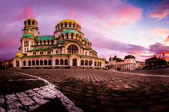 Alexander Nevsky Cathedral en Sofia Bulgaria Photos libres de droits
