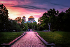 Alexander Nevsky Cathedral en Sofia Bulgaria Photo stock