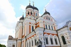 Alexander Nevsky Cathedral en Tallinn - iglesia ortodoxa de la catedral en Estonia Fotografía de archivo