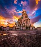 Alexander Nevsky Cathedral i Sofia Bulgaria arkivfoto