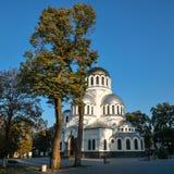 Alexander Nevsky Cathedral in kamianets-Podilskyi, de Oekraïne Royalty-vrije Stock Fotografie