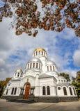Alexander Nevsky Cathedral in kamianets-Podilskyi, de Oekraïne Royalty-vrije Stock Foto