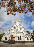 Alexander Nevsky Cathedral in Kamianets-Podilskyi, Ukraine Lizenzfreies Stockfoto