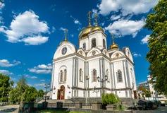 Alexander Nevsky Cathedral in Krasnodar, Russia stock images